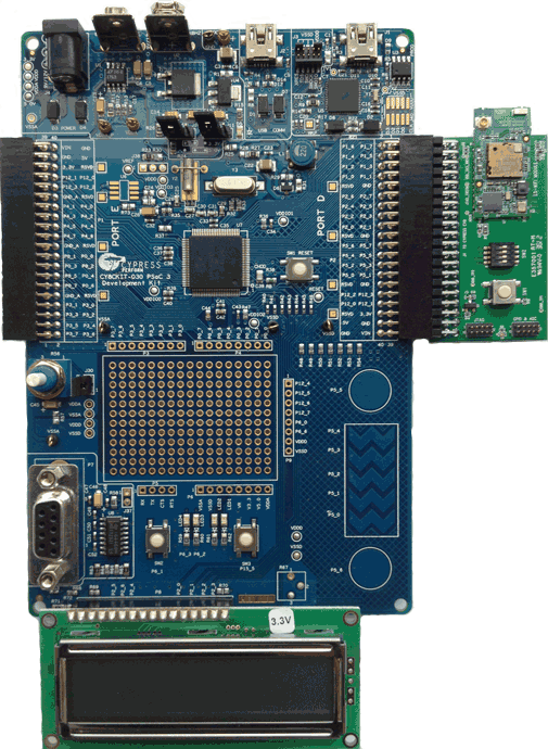 Cypress Evaluation kit PSOC with ES WiFi attached
